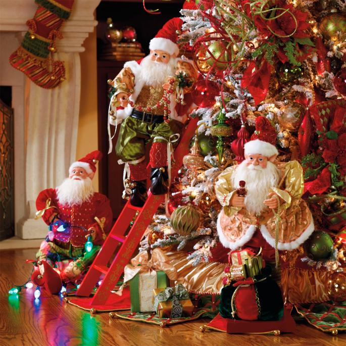 Traditional Christmas Decorating Ideas: Set Of 3 Animated Decorating Elves