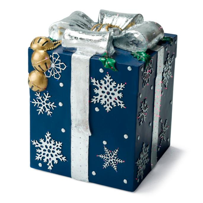 Blue Fiber Optic Gift Box Frontgate