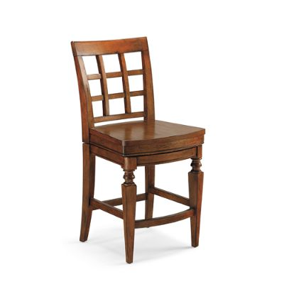 Napa Wooden Seat Swivel Counter Height Bar Stool 24 1 4 Quot H