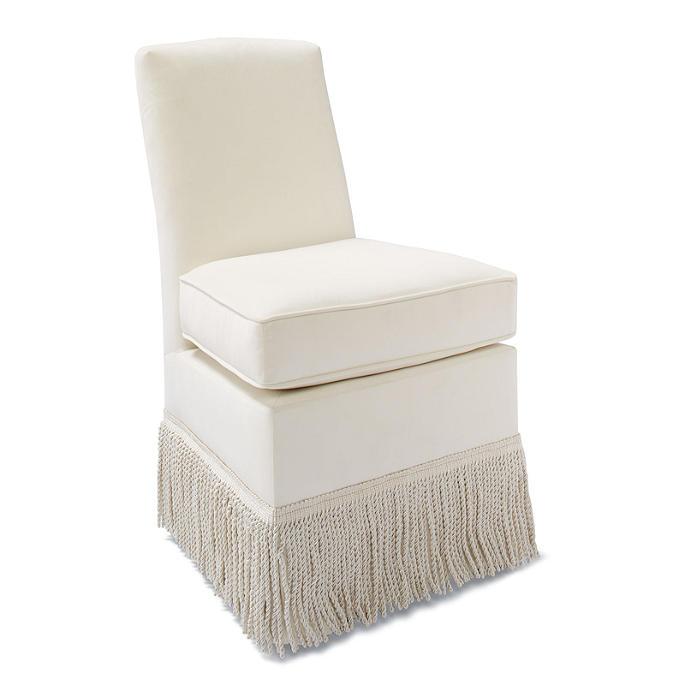 Marisa Fringed Vanity Chair Frontgate