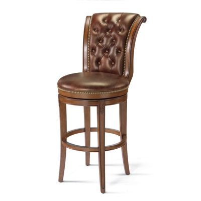Lombard Tufted Back Bar Height Bar Stool Frontgate