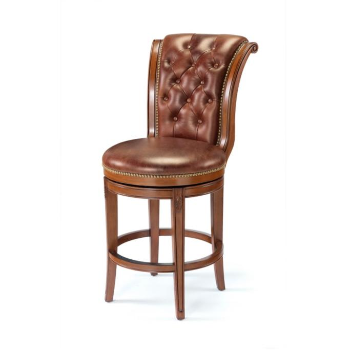Lombard Tufted Back Counter Height Bar Stool Frontgate