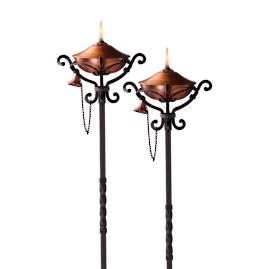 Regent Copper Torches, Set of Two