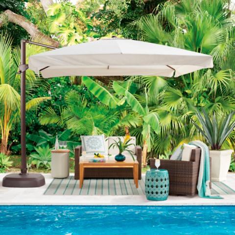 Merveilleux 10u0027 Cantilever Square Side Mount Umbrella