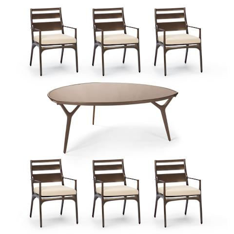 Triangle Dining Set (with Tribeca Table)