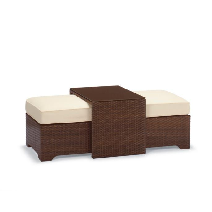 Remarkable Palermo Coffee Table With Nesting Ottomans Frontgate Evergreenethics Interior Chair Design Evergreenethicsorg