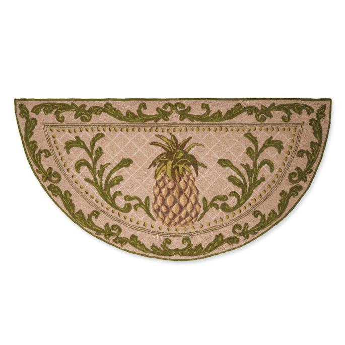 Classic Pineapple Half Round Mat Frontgate