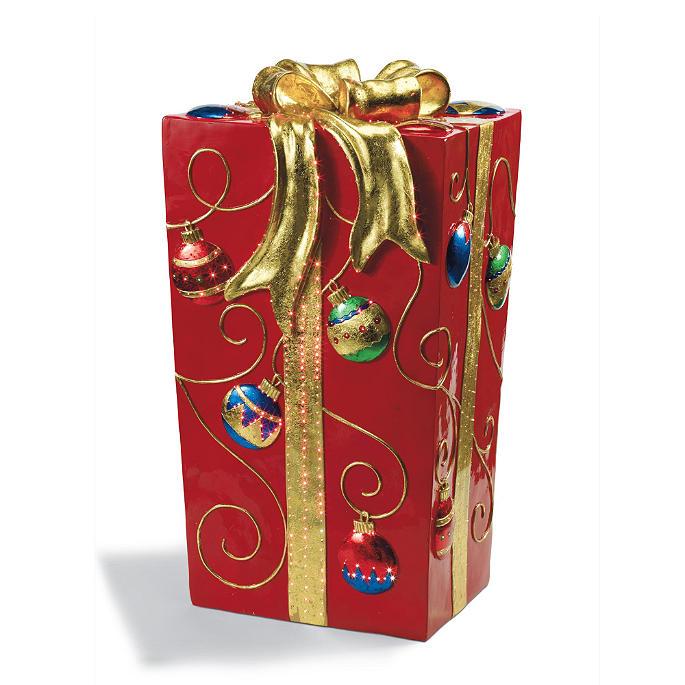 on sale 6b5ec f9996 Fiber Optic Red Gift Box