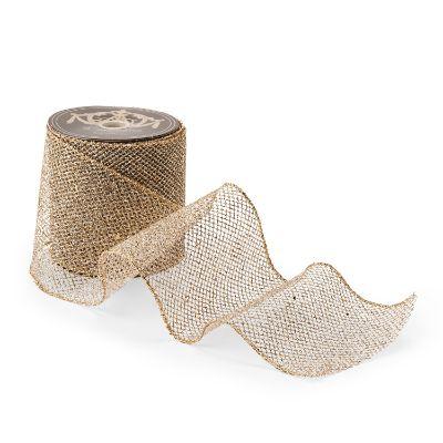Glitter Mesh Platinum Ribbon Frontgate