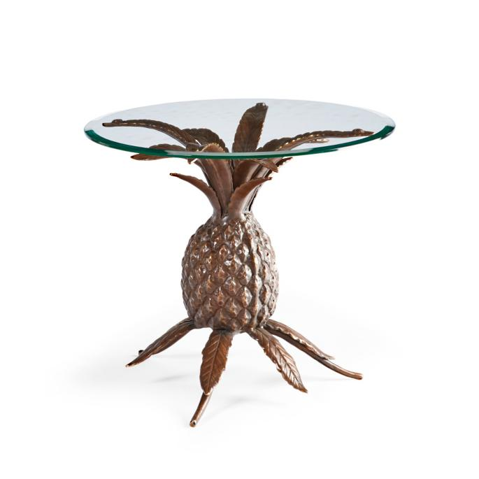 official photos d9c7d 259be Brass Pineapple Side Table | Frontgate