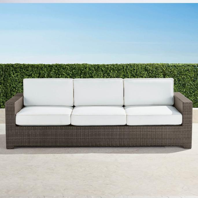Palermo Sofa With Cushions In Bronze Finish Frontgate