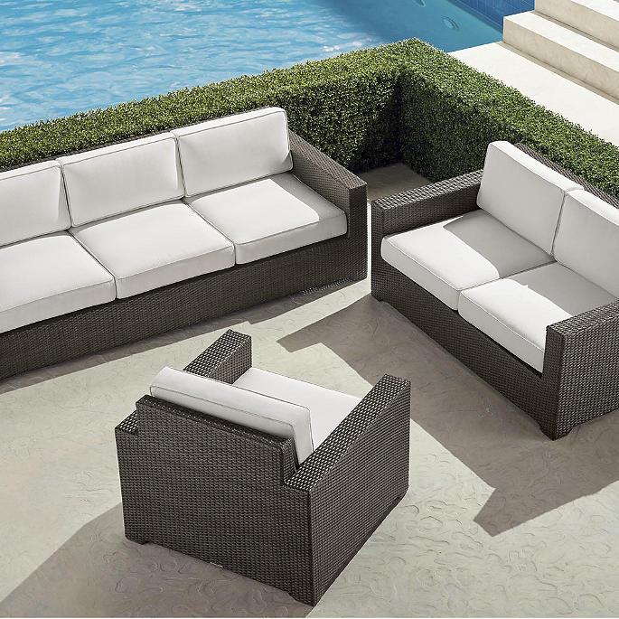 Palermo 3-pc. Sofa Set in Bronze Finish - Palermo 3-pc. Sofa Set In Bronze Finish Frontgate