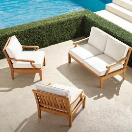 Cassara 3-pc. Loveseat Set in Natural Finish