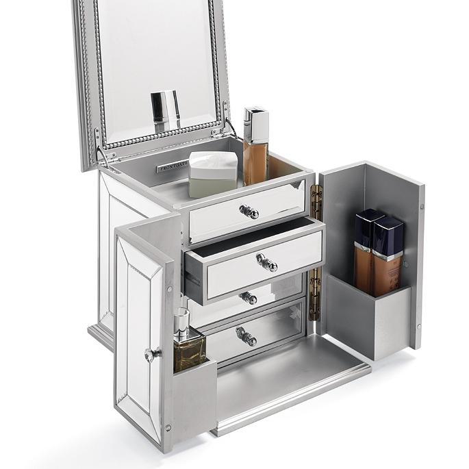 Antoinette Mirrored Vanity Storage Case Frontgate