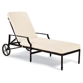 Grayson Chaise Lounge Chair with Cushions in Black
