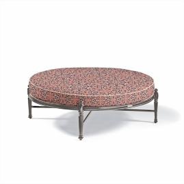 Carlisle Round Ottoman with Cushion in Slate Finish