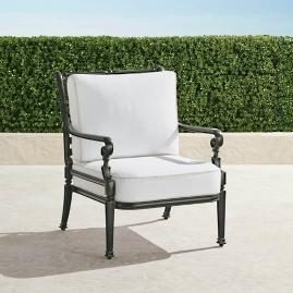 Carlisle Lounge Chair with Cushions in Slate Finish