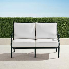 Carlisle Loveseat with Cushions in Onyx Finish