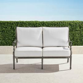 Carlisle Loveseat with Cushions in Slate Finish