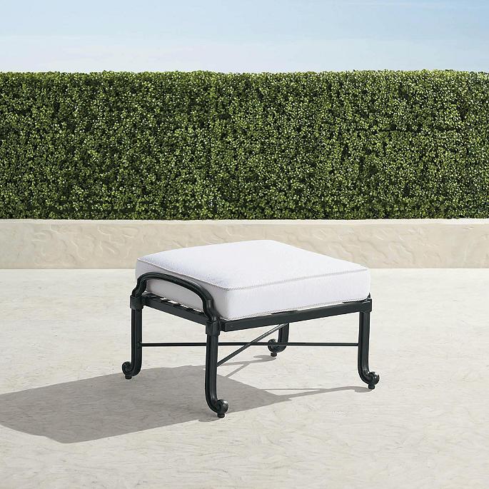 Cool Carlisle Ottoman With Cushion In Onyx Finish Uwap Interior Chair Design Uwaporg