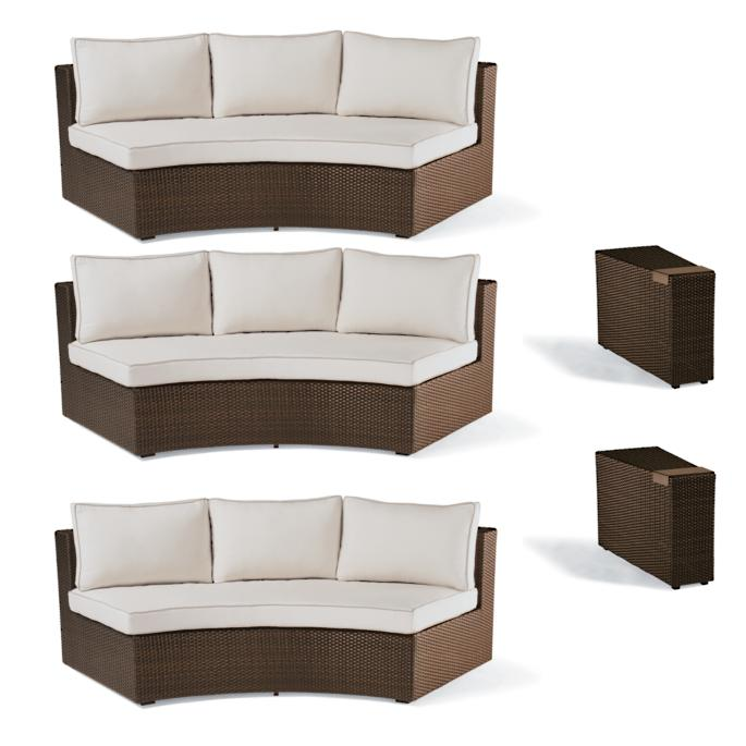 Pasadena 5 Pc. Sofa Set In Bronze Finish