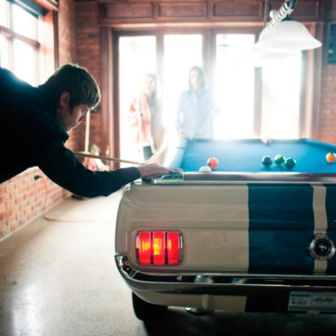 Limited Edition Shelby GT Autographed Pool Table Frontgate - Ballard pool table