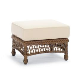 Hampton Ottoman with Cushion in Driftwood Finish