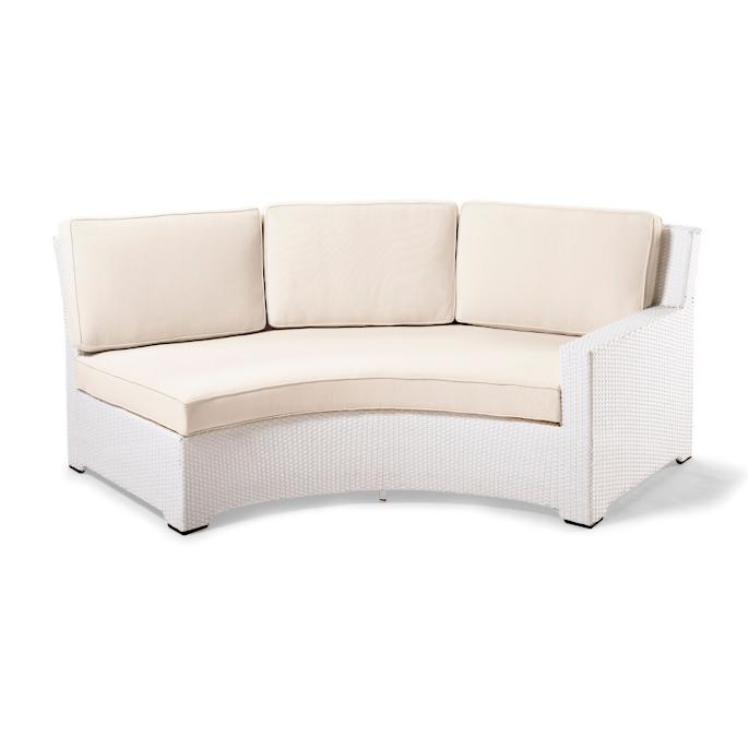 Pleasing Palermo Right Facing Curved Sofa With Cushions In White Caraccident5 Cool Chair Designs And Ideas Caraccident5Info