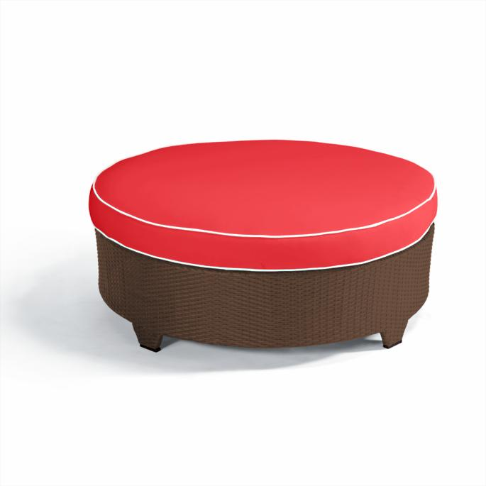 Fine Palermo Round Cocktail Ottoman With Cushion In Bronze Finish Pabps2019 Chair Design Images Pabps2019Com