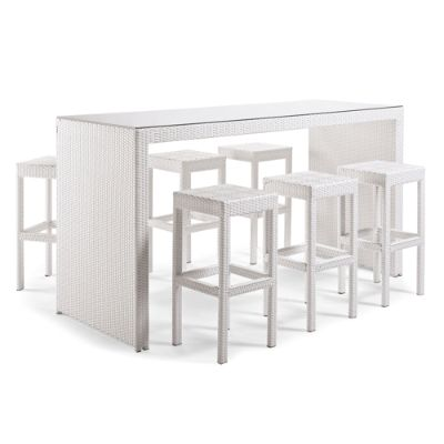 Palermo 7 Pc Bar Set In White Finish Frontgate