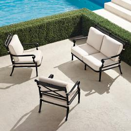 Carlisle 3-pc. Loveseat Set in Onyx Finish
