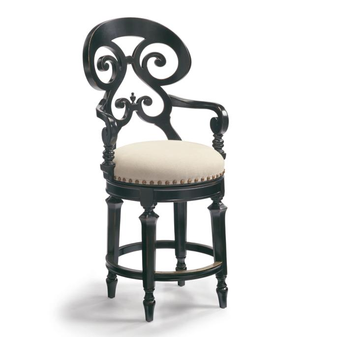 Louisa Swivel Counter Height Bar Stool 26 Quot H Seat Frontgate