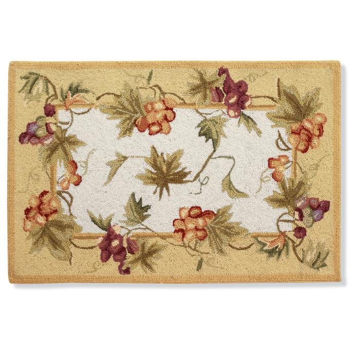 Grapevine Hand Hooked Wool Area Rug Frontgate
