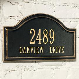 Oakview Address Plaque