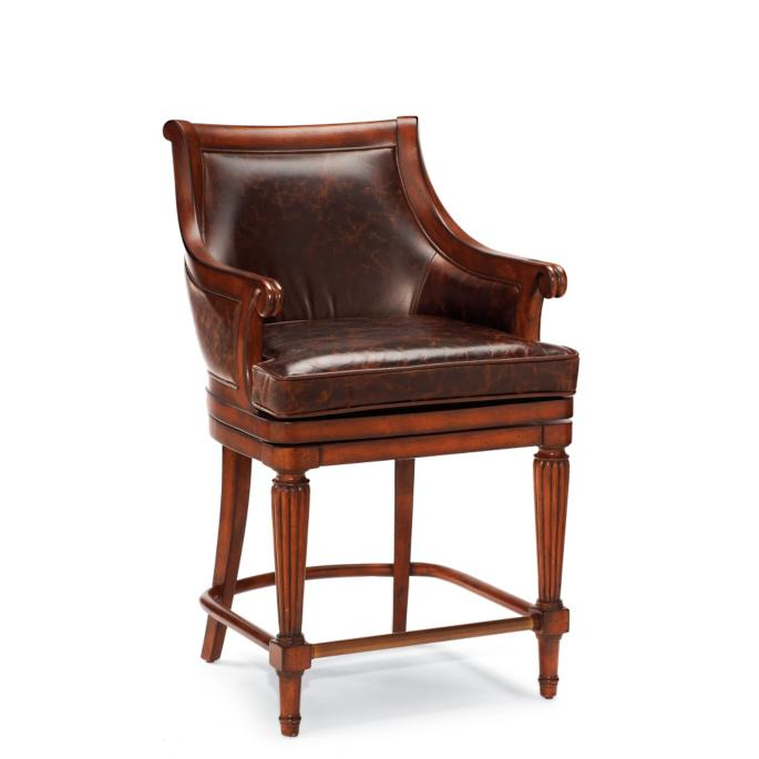 Sensational Lonsdale Swivel Counter Height Bar Stool 24H Seat Frontgate Squirreltailoven Fun Painted Chair Ideas Images Squirreltailovenorg