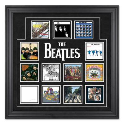 The Beatles Framed Album Cover Collage Frontgate