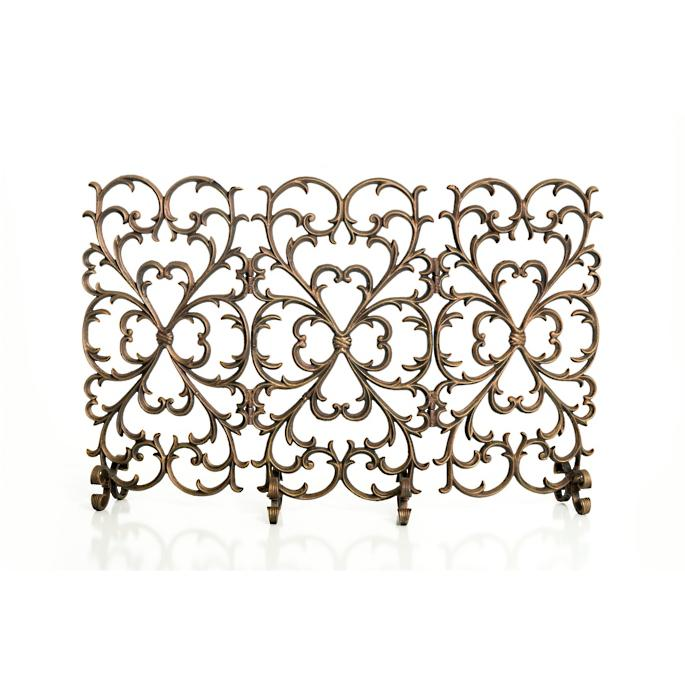 e1407303e27 Cast-iron Scrollwork Fireplace Screen