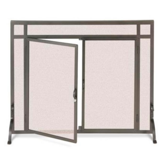 Custom Straight Top Forged Fireplace Screens Frontgate