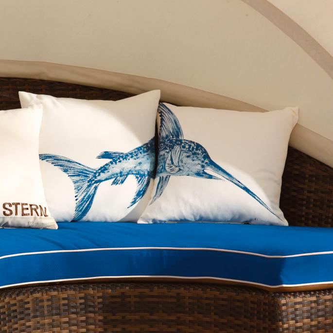 Set Of Two Swordfish Outdoor Throw Pillows Frontgate