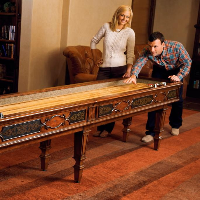 Wiltshire Shuffle Board Table Frontgate - Portable shuffleboard table