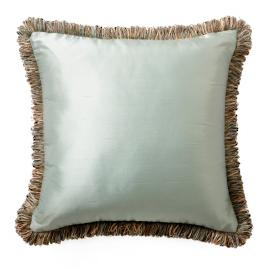 Silk Decorative Pillow with Fringe