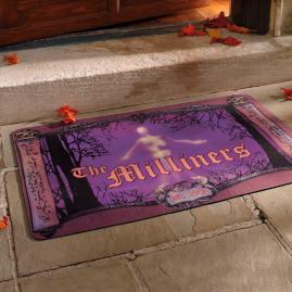 Personalized Scroll Halloween Door Mat