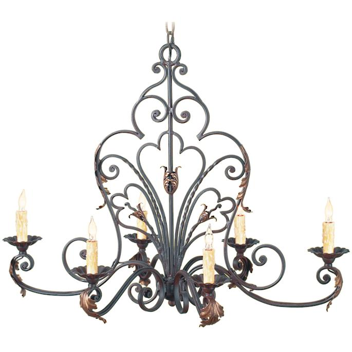 new arrival a6fbd 162e4 Oval Wrought Iron Outdoor Chandelier   Frontgate