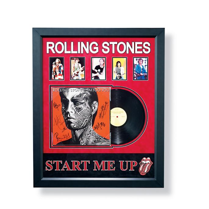 Rolling Stones Autographed Tattoo You Album Frontgate