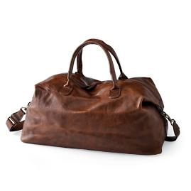 Benedict Leather Weekend Bag by Moore and Giles