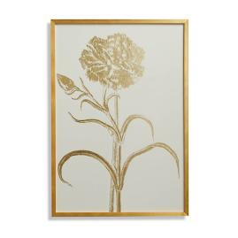Double-flowered Narcissus Gilded Silkscreen Botanical Print on