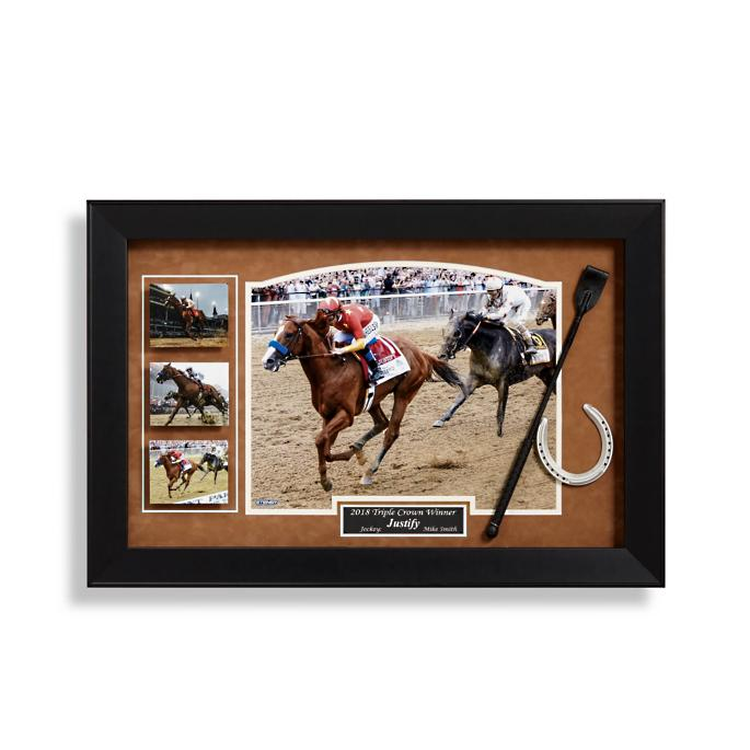 dde4ddb3ad4 Mike Smith and Justify Signed Triple Crown Display
