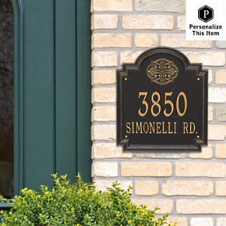 Incredible Address Plaques And Mailboxes Frontgate Download Free Architecture Designs Intelgarnamadebymaigaardcom