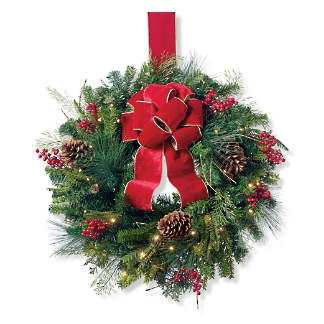 christmas cheer window wreath - Artificial Christmas Wreaths Decorated