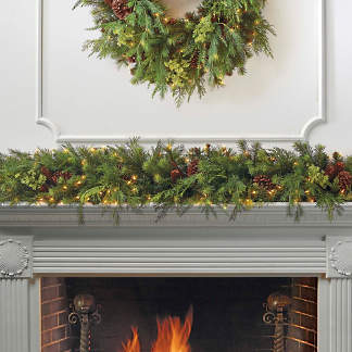 Asheville Estate Cordless Garland